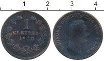 Изображение Монеты Баден 1 крейцер 1840 Медь VF Герцог Леопольд