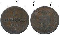 Изображение Монеты Германия Саксония 1 пфенниг 1841 Медь VF