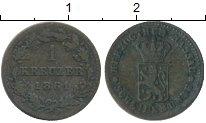 Изображение Монеты Нассау 1 крейцер 1861 Медь XF-
