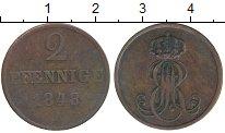 Изображение Монеты Ганновер 2 пфеннига 1848 Медь VF