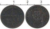 Изображение Монеты Германия Шварцбург-Зондерхаузен 1 пфенниг 1846 Медь VF