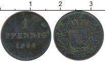 Изображение Монеты Бавария 1 пфенниг 1844 Медь VF