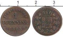 Изображение Монеты Бавария 1 пфенниг 1868 Медь XF