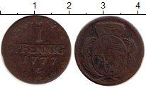 Изображение Монеты Саксония 1 пфенниг 1777 Медь VF