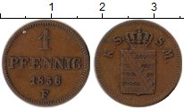 Изображение Монеты Саксен-Майнинген 1 пфенниг 1856 Медь VF F