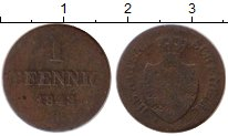 Изображение Монеты Германия Саксен-Майнинген 1 пфенниг 1843 Медь VF