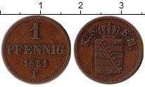 Изображение Монеты Саксен-Майнинген 1 пфенниг 1851 Медь XF F