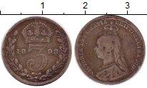 Изображение Монеты Европа Великобритания 3 пенса 1893 Серебро VF