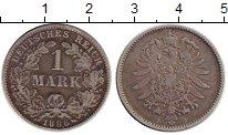 Изображение Монеты Германия 1 марка 1886 Серебро VF J