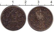 Изображение Монеты Германия 1/2 марки 1907 Серебро VF