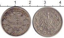 Изображение Монеты Европа Германия 1/2 марки 1908 Серебро VF