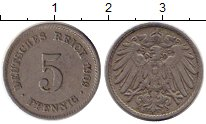 Изображение Монеты Европа Германия 5 пфеннигов 1909 Медно-никель VF