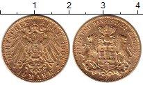 Изображение Монеты Гамбург 10 марок 1908 Золото UNC-