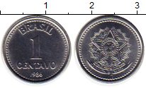 Изображение Монеты Южная Америка Бразилия 1 сентаво 1986 Медно-никель UNC