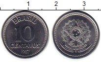 Изображение Монеты Бразилия 10 сентаво 1987 Медно-никель UNC