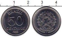 Изображение Монеты Бразилия 50 сентаво 1988 Медно-никель UNC