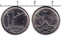 Изображение Монеты Южная Америка Бразилия 1 сентаво 1989 Медно-никель UNC