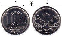 Изображение Монеты Бразилия 10 сентаво 1990 Медно-никель UNC