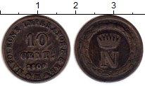 Изображение Монеты Италия 10 сентесим 1809 Серебро VF+