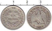 Изображение Монеты Чили 1 десим 1880 Серебро XF-