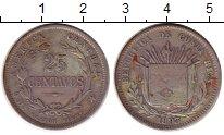 Изображение Монеты Коста-Рика 25 сентаво 1893 Серебро XF-