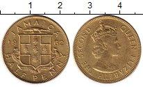 Изображение Монеты Северная Америка Ямайка 1/2 пенни 1962 Латунь XF