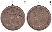 Изображение Монеты Австралия 6 пенсов 1936 Серебро VF