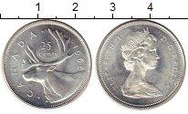 Изображение Мелочь Северная Америка Канада 25 центов 1968 Серебро XF