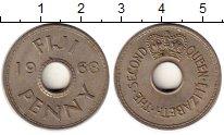 Изображение Монеты Фиджи 1 пенни 1968 Медно-никель XF Елизавета II