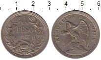 Изображение Монеты Южная Америка Чили 1 песо 1933 Медно-никель XF