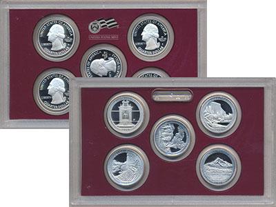 Изображение Подарочные монеты Северная Америка США Выпуск 2010 пруф-сет-квотеры 2010 Серебро Proof