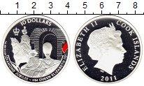 Изображение Монеты Острова Кука 10 долларов 2011 Серебро Proof Цифровая  печать.  Е