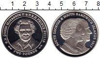 Изображение Монеты Южная Америка Сендвичевы острова 2 фунта 2017 Серебро Proof