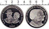 Изображение Монеты Великобритания Фолклендские острова 1 крона 2017 Серебро Proof