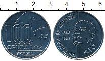 Изображение Монеты Южная Америка Бразилия 100 крузадо 1988 Медно-никель UNC