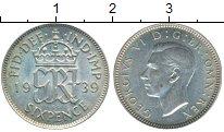 Изображение Монеты Европа Великобритания 6 пенсов 1939 Серебро XF