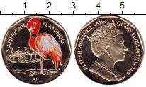 Изображение Мелочь Виргинские острова 1 доллар 2019 Медно-никель Prooflike Американский фламинг