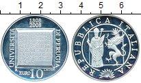 Изображение Монеты Европа Италия 10 евро 2008 Серебро Proof-
