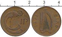 Изображение Монеты Ирландия 1 пенни 1971 Бронза XF