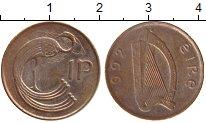 Изображение Монеты Ирландия 1 пенни 1992 Бронза UNC-