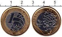 Изображение Монеты Южная Америка Бразилия 1 реал 2016 Биметалл UNC