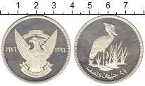 Изображение Монеты Судан 2 1/2 фунта 1976 Серебро Proof-