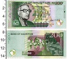 Изображение Банкноты Маврикий 200 рупий 2007  UNC