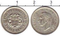 Изображение Монеты Европа Великобритания 3 пенса 1940 Серебро XF