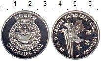 Изображение Монеты Норвегия Медаль 2002 Серебро Proof- 50 лет Олимпийским и