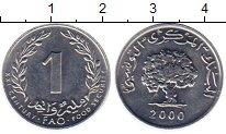 Изображение Монеты Тунис 1 сантим 2000 Алюминий UNC