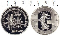 Изображение Монеты Европа Франция 10 евро 2010 Серебро Proof