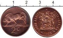 Изображение Монеты Африка ЮАР 2 цента 1973 Бронза XF