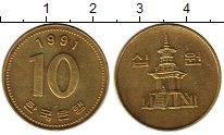 Изображение Монеты Азия Южная Корея 10 вон 1991 Латунь XF