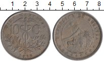 Изображение Монеты Боливия 10 сентаво 1919 Медно-никель XF-